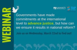 Webinar: Advocacy: Justice and the SDGs