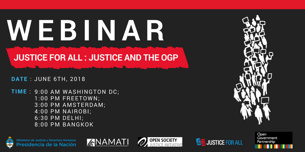 WEBINAR: Justice For All: Justice and the OGP