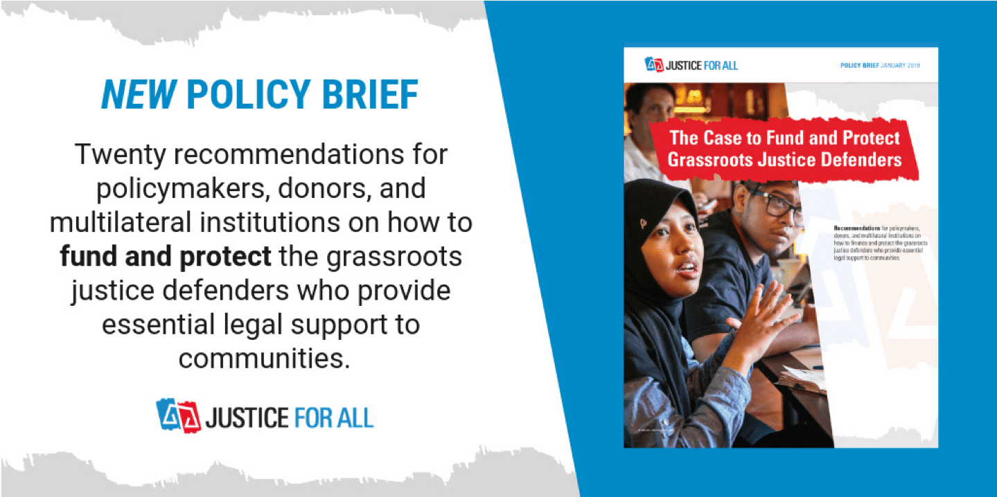 Justice For All launches new policy brief
